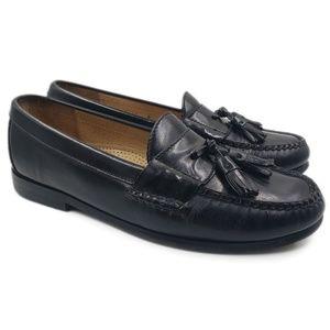 Cole Haan City Black Leather Tassel Slip-On Loafer